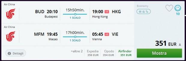 Budimpešta >> Hong Kong -- Makao >> Beč