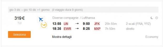 Milano >> New York >> Milano