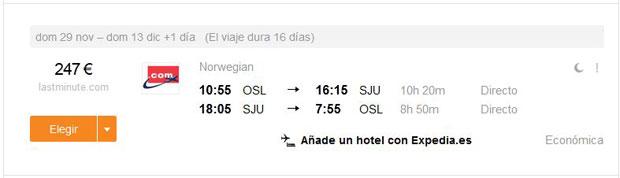 Oslo >> San Juan >> Oslo