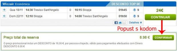 Venecija (Treviso) >> Skopje >> Venecija (Treviso), na rumbo.pt stranicama