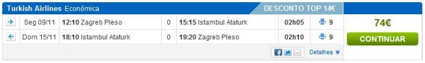 Zagreb >> Istanbul >> Zagreb, na rumbo.pt stranicama