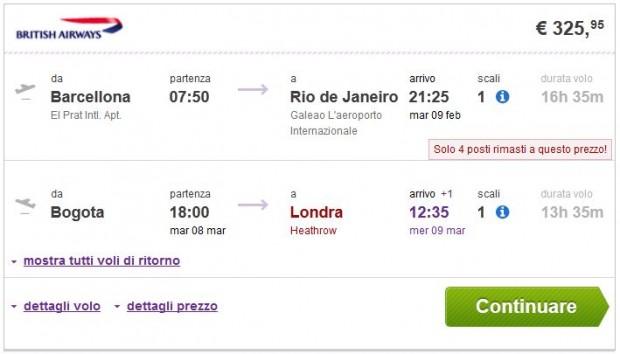 Barcelona >> Rio de Janeiro -- Bogota >> London