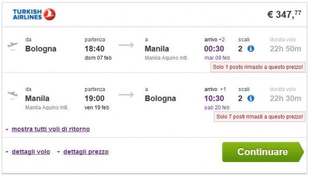 Bolonja >> Manila >> Bolonja