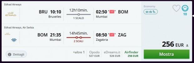 Brisel >> Mumbai >> Zagreb