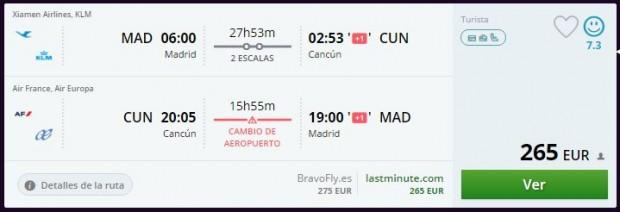 Madrid >> Cancun >> Madrid