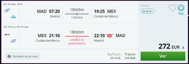 Madrid >> Mexico City >> Madrid