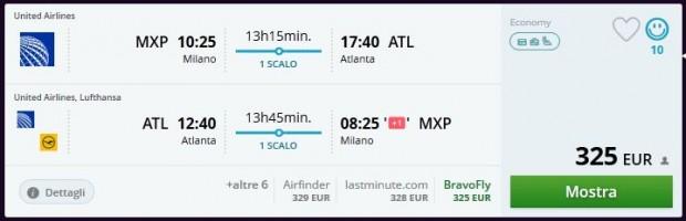 Milano >> Atlanta >> Milano