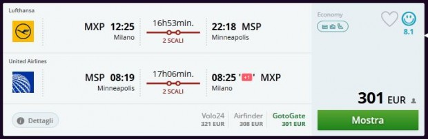Milano >> Minneapolis >> Milano