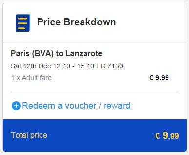 Pariz >> Lanzarote