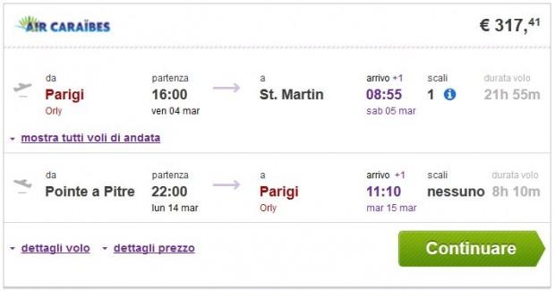 Pariz >> St. Martin -- Pointe a Pitre >> Pariz