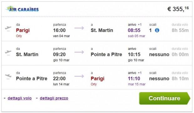 Pariz >> St. Martin >> Pointe a Pitre >> Pariz