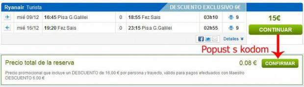 Pisa >> Fez >> Pisa, na rumbo.es stranicama