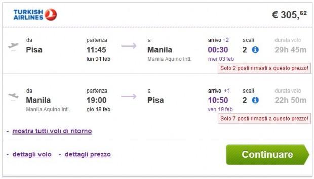 Pisa >> Manila >> Pisa