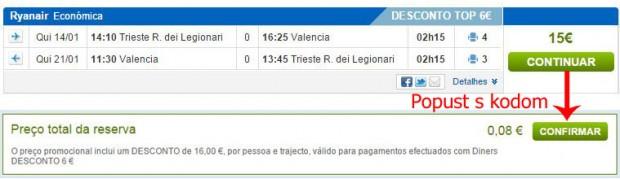 Trst >> Valencia >> Trst, na rumbo.pt stranicama