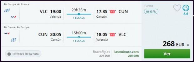 Valencia >> Cancun >> Valencia