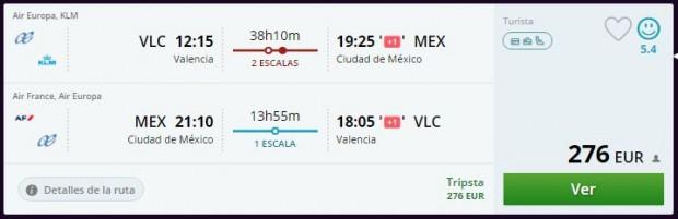 Valencia >> Mexico City >> Valencia