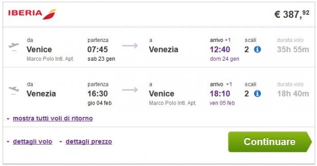 Venecija >> Veracruz >> Venecija