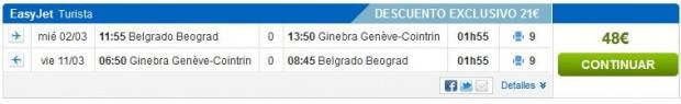 Beograd >> Ženeva >> Beograd