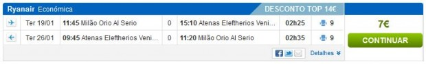 Milano (Bergamo) >> Atena >> Milano (Bergamo)
