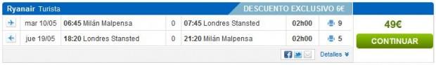 Milano >> London >> Milano