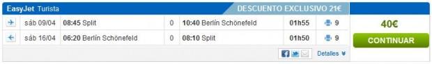 Split >> Berlin >> Split, na bazi 1 osobe, korak 1