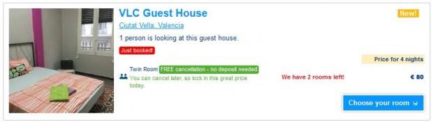 Valencia - dvokrevetna soba s dijeljenim kupatilom