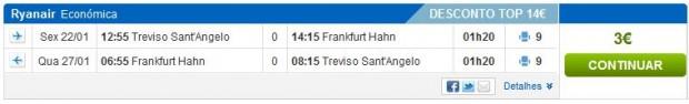 Venecija (Treviso) >> Frankfurt (Hahn) >> Venecija (Treviso)
