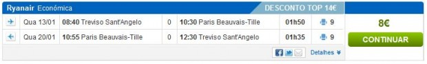 Venecija (Treviso) >> Pariz (Beauvais) >> Venecija (Treviso)