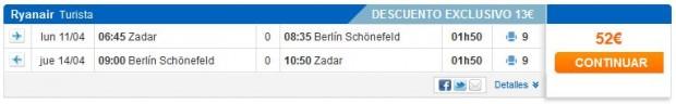 Zadar >> Berlin >> Zadar, na Viajar stranicama s Meastro karticom