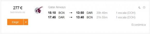 Barcelona >> Dar Es Salaam >> Barcelona