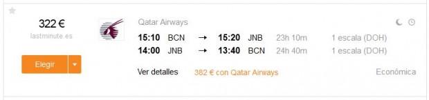 Barcelona >> Johannesburg >> Barcelona