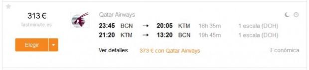 Barcelona >> Kathmandu >> Barcelona