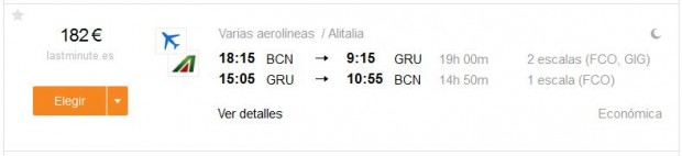 Barcelona >> Sao Paulo >> Barcelona