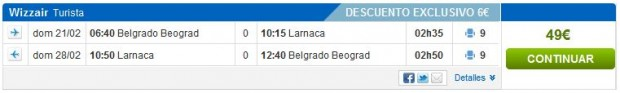 Beograd >> Larnaca >> Beograd, na rumbo.es stranicama