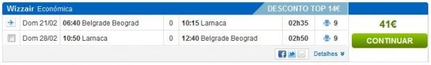 Beograd >> Larnaca >> Beograd, na rumbo.pt stranicama