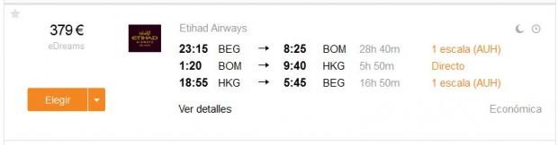 Beograd >> Hong Kong >> Beograd, s dužim layoverom u Indiji
