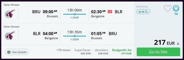 Brisel >> Bangalore >> Brisel