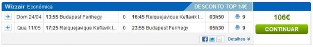 Budimpešta >> Reykjavik >> Budimpešta, na rumbo.pt stranicama