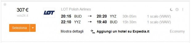 Budimpešta >> Toronto >> Budimpešta