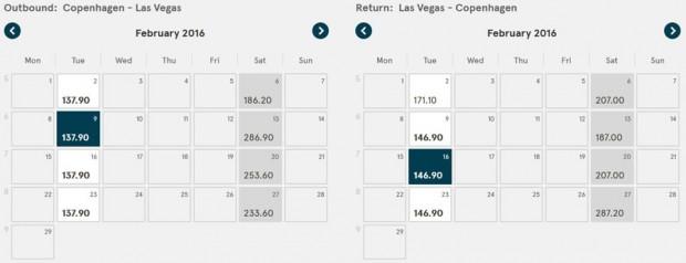 Kopenhagen >> Las Vegas >> Kopenhagen, na Norwegian stranicama