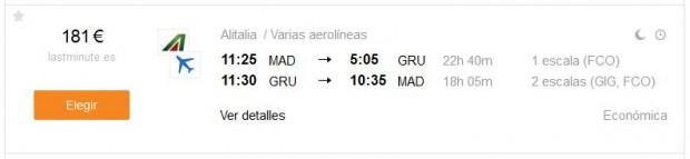 Madrid >> Sao Paulo >> Madrid