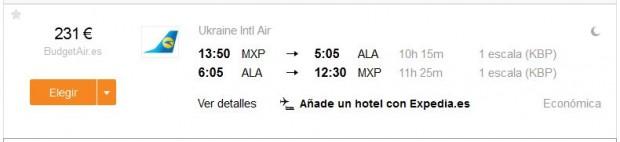 Milano >> Alma Ata >> Milano
