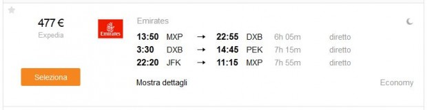 Milano >> Dubai >> Peking -- New York >> Milano