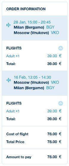 Milano >> Moskva >> Milano