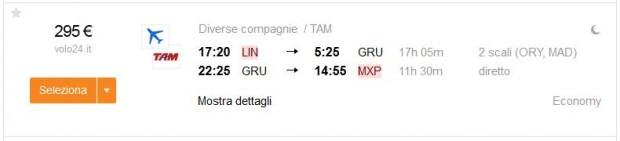 Milano >> Sao Paulo >> Milano