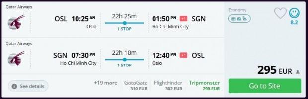 Oslo >> Ho Chi Minh City >> Oslo
