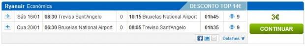 Venecija (Treviso) >> Brisel >> Venecija (Treviso)
