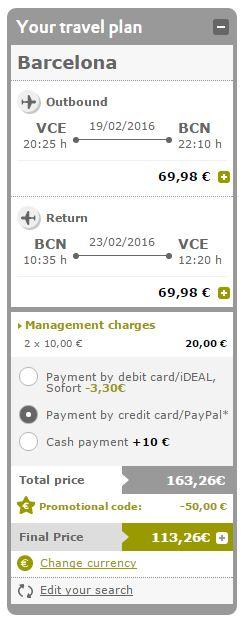 Ukupna cijena će se umanjiti za 50€