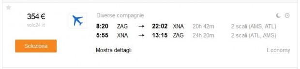 Zagreb >> Bentonville >> Zagreb