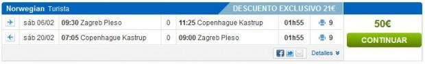 Zagreb >> Kopenhagen >> Zagreb, na rumbo.es stranicama